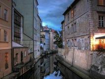 Certovka Kanal in Prag Stockbilder