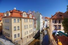 Certovka rzeka, Praga zdjęcie royalty free