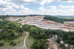 Certovy schody limestone quarry in Cesky kras in Central Bohemia Royalty Free Stock Photos