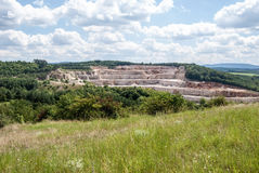 Certovy schody limestone quarry in Cesky kras Royalty Free Stock Photo