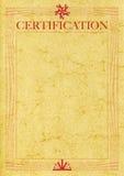 certyfikata klasyczna słonia ps skóra Zdjęcia Stock