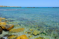 Cerulean bay in Paphos Stock Photos