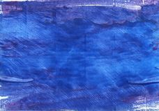 Cerulean blue abstract watercolor background Royalty Free Stock Images