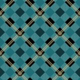 Cerulean Blue Lumberjack Buffalo Plaid Pattern eps10 stock illustration