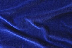 Cerulean simple napped fabric in soft folds royalty free stock image