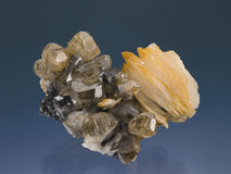 Cerusite-Barytine Photo stock