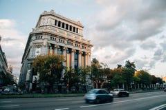 Cervantes instytutu budynek w Madryt zdjęcia royalty free