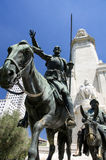 The Cervantes Monument in Madrid Royalty Free Stock Photo