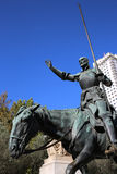 Cervantes Monument. Madrid Stock Photo