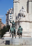 Cervantes Monument in Madrid, Spain Stock Photo