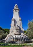 Cervantes Monument at Madrid Spain Stock Photos