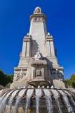 Cervantes monument på Madrid Spanien Arkivbilder