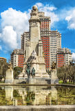 The Cervantes monument, the Tower of Madrid in Madrid. Stock Photos