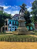 Cervantes Park in habana royalty free stock images