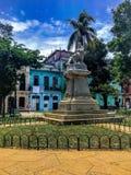 Cervantes-Park im habana lizenzfreie stockbilder
