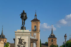 Cervantes square Royalty Free Stock Image
