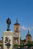 Cervantes Square in Alcala Royalty Free Stock Photo