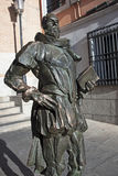 Cervantes statue in Toledo Stock Photos