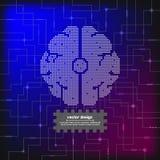 Cerveau électrique de circuit de vecteur Photographie stock