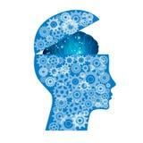 Cerveau électronique abstrait de carte, concept d'intelligence artificielle d'AI illustration de vecteur