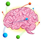 Cerveau atomique illustration libre de droits