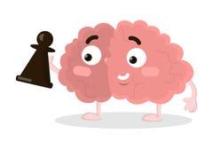 Cerveau avec des échecs illustration libre de droits