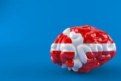 Cerveau avec le drapeau danois illustration de vecteur