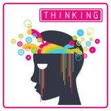 Cerveau coloré de pensée créative Photographie stock libre de droits