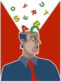 Cerveau d'alphabet Photo libre de droits