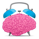 Cerveau d'horloge d'alarme de cru Photos libres de droits