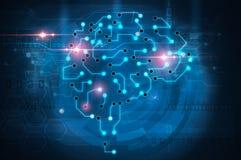 Cerveau d'intelligence artificielle illustration de vecteur