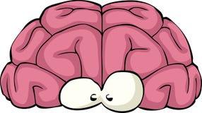 Cerveau de dessin animé Image libre de droits