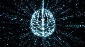 Cerveau de Digital dans l'explosion de particules - vue supérieure Illustration Libre de Droits