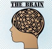 Cerveau de puzzle illustration de vecteur
