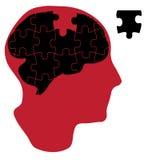 Cerveau de résolution des problèmes Image libre de droits
