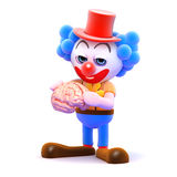 cerveau du clown 3d Images libres de droits