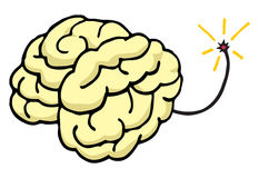Cerveau environ pour éclater le coup votre esprit Photo libre de droits