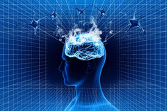 Cerveau et neurone Photo stock