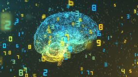 Cerveau et nombres - grandes données et statistiques - bonne vue Illustration de Vecteur