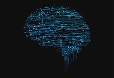 Cerveau futuriste de cyber Photo libre de droits