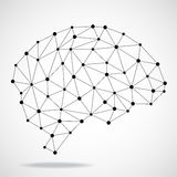 Cerveau géométrique abstrait, connexions réseau Photographie stock