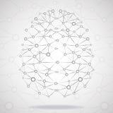 Cerveau géométrique abstrait, connexions réseau Photo stock