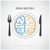 Cerveau gauche créatif et concept d'idée de cerveau droit Images stock