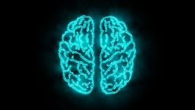 Cerveau 005 - néon d'Infographic 4K illustration stock