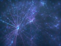 Cerveau neural biomécanique d'intelligence artificielle de cellules illustration stock
