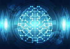 Cerveau numérique abstrait de circuit électrique, concept de technologie illustration de vecteur