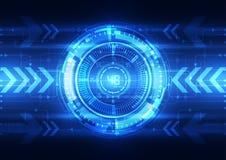 Cerveau numérique abstrait de circuit électrique, vecteur de concept de technologie illustration stock