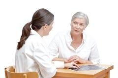 Cerveau patient de ct-balayage de docteur d'isolement Images libres de droits