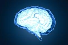 Cerveau polygonal bleu