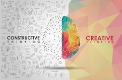 Cerveau polygonal conceptuel Illustration abstraite illustration stock